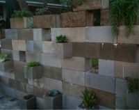 Painted Cinder Block Retaining Wall | www.imgkid.com - The ...
