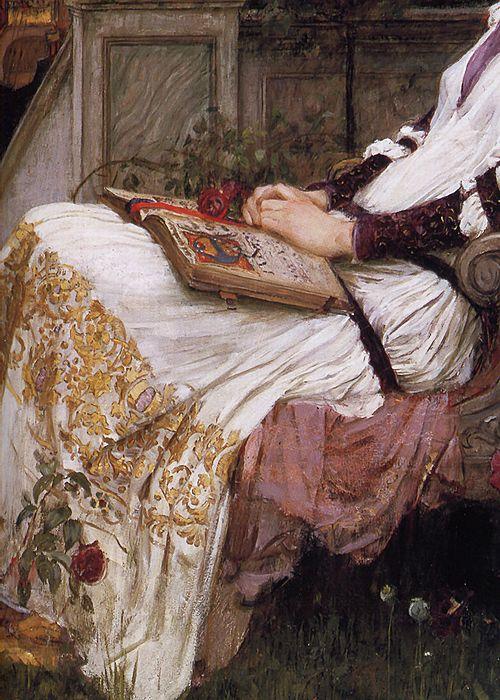 sollertias:  Saint Cecilia by John William Waterhouse, 1895 (detail)
