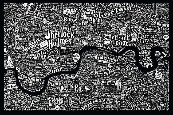 Literary Map of London