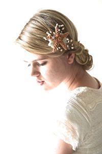 Starfish hair accessory, beach wedding hair, starfish hair