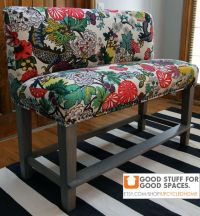 Custom Upholstered Counter Height Bench