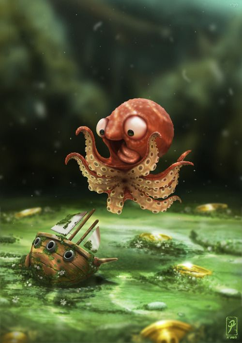 May you be as happy as a baby Kraken finding the perfect size ship. I saw this and thought it was too cute!!! :)