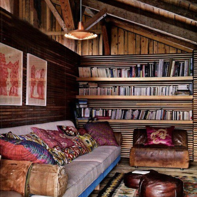 WANT Cozy reading room  Must have for the Cabin  Pinterest