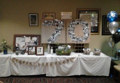 Decoration Ideas For 70th Birthday Party