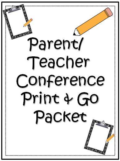 Printable Parent Teacher Conference Reminder Notes