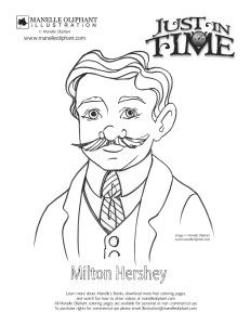 Pages Of Milton S Hershey Coloring Sketch Coloring Page