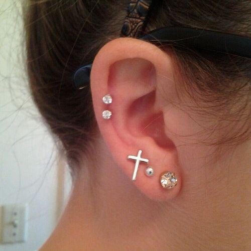 Double Helix Piercing Earrings