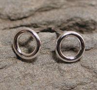 5mm circle hoop earrings sterling silver 16 gauge by SARANTOS