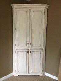 Antique white, corner cabinet! Love... | Corner Cabinets ...