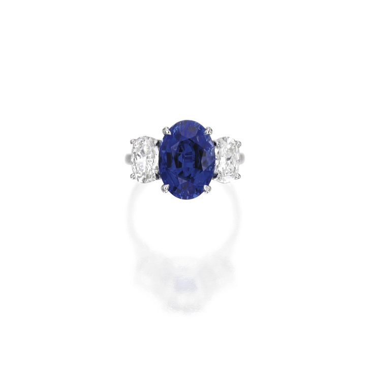 Platinum, Sapphire and Diamond Ring | Lot | Sotheby's