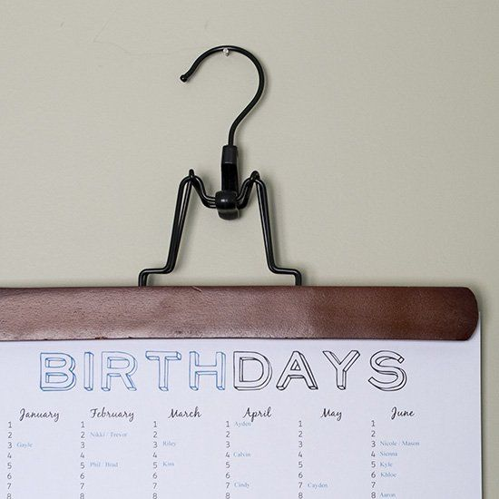 Never forget a birthday again with this interactive PDF. Type in birthdays and print for a year at a glance!