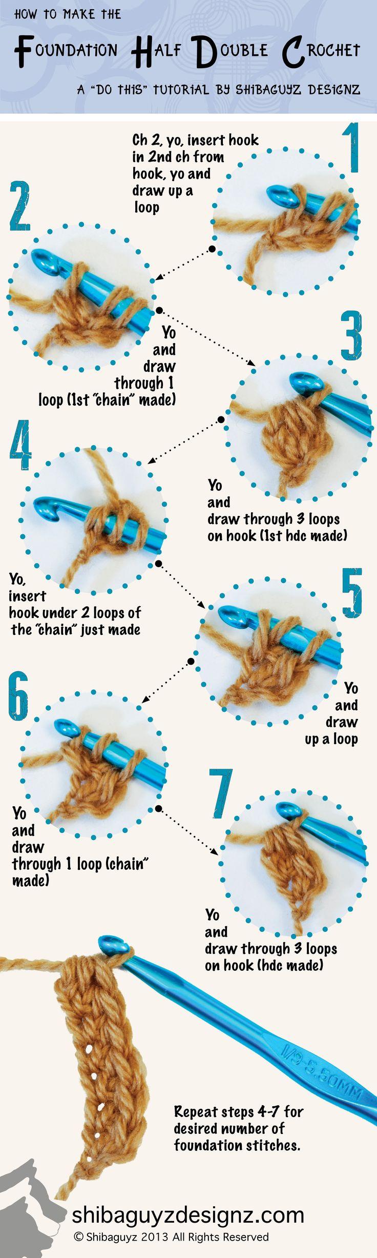 Technique :: Foundation Half Double Crochet