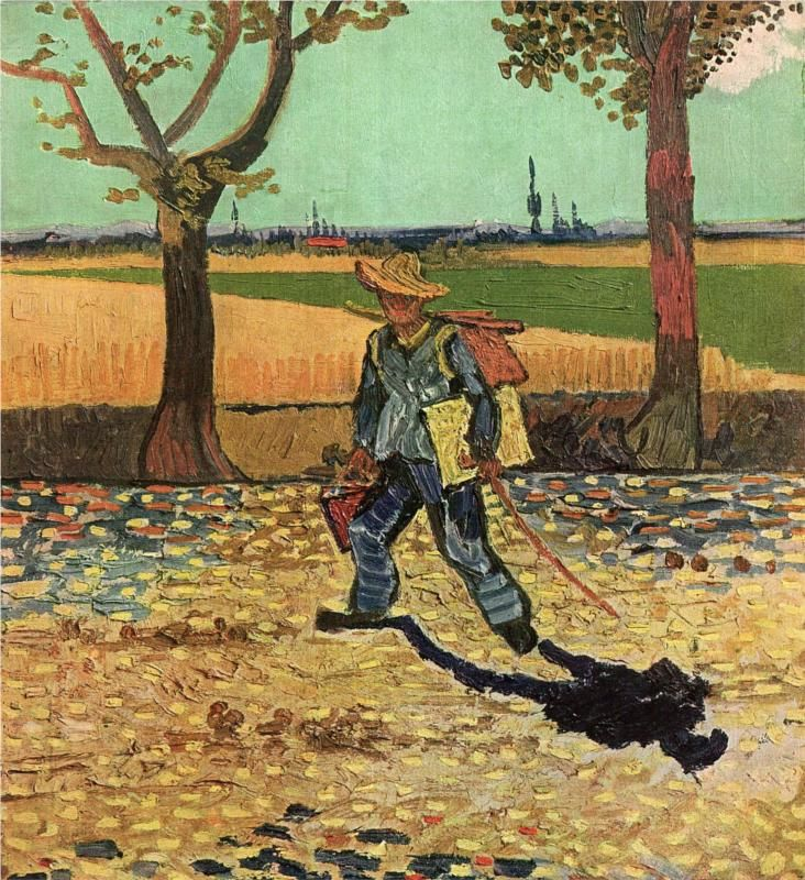 Selfportrait on the Road to Tarascon (The Painter on His Way to Work) Vincent van Gogh Completion Date: 1888 Place of Creation: Arles ...............#GT