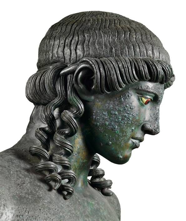 Statue of Apollo Kitharoedus (detail), from the Casa del Citarista, Late 1st century BC. Chr., After 50. Chr. , Naples National Archaeological Museum