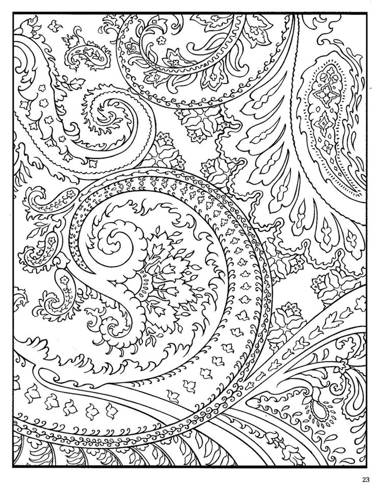 dover paisley designs coloring book  zentangle coloring