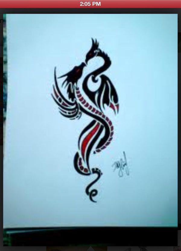 dragon phoenix love &