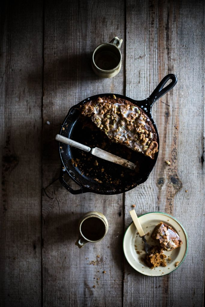 Local Milk | crème fraîche, cornmeal, & pumpkin coffee cake + pepita streusel