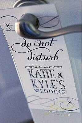 Wedding inspiration, Wedding Do Not Disturb Door Sign