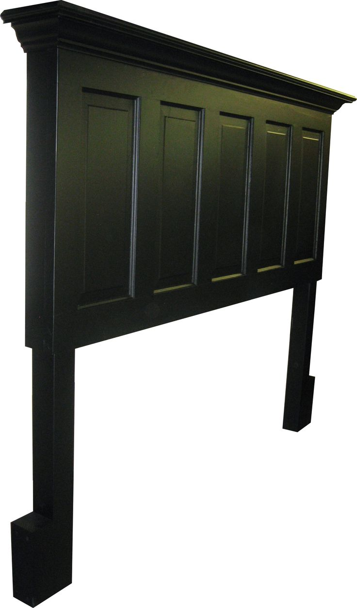 5 Panel Onyx Black King Size Headboard With Legs from