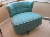 Vtg Mid Century Modern Kroehler Tub Barrel Swivel Chair ...