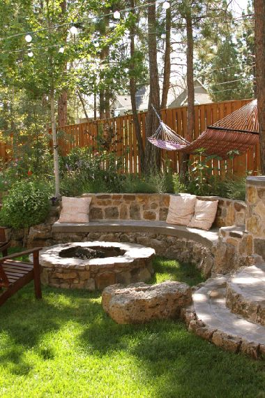 Stunning fire pit area.