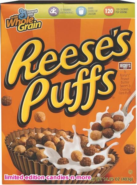 """Reese's Puffs- my favorite """"sugary"""" cereal."""