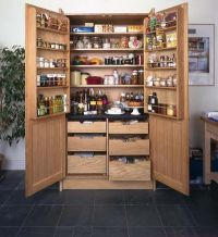 Stand alone Wooden Pantry with Doors | For the Home ...