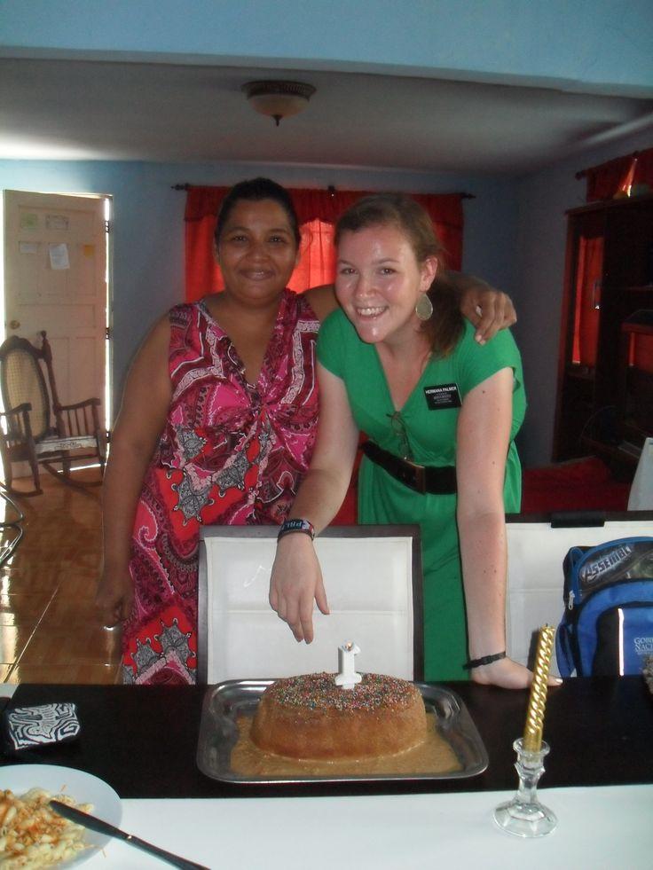 Hermana Janelis and me with the cake she made me.