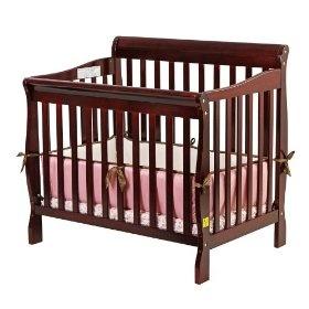 Lajobi Palisades Licorice Convertible Crib  Bed Mattress Sale