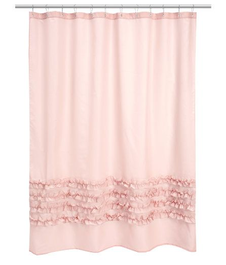 HM light pink shower curtain  H o m e  Pinterest