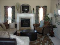 Brown Teal Living Room
