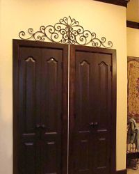 iron wall art above door | For the Home | Pinterest