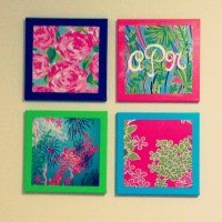 Lilly Pulitzer Wall Art | Lilly Pulitzer Bridal Shower ...