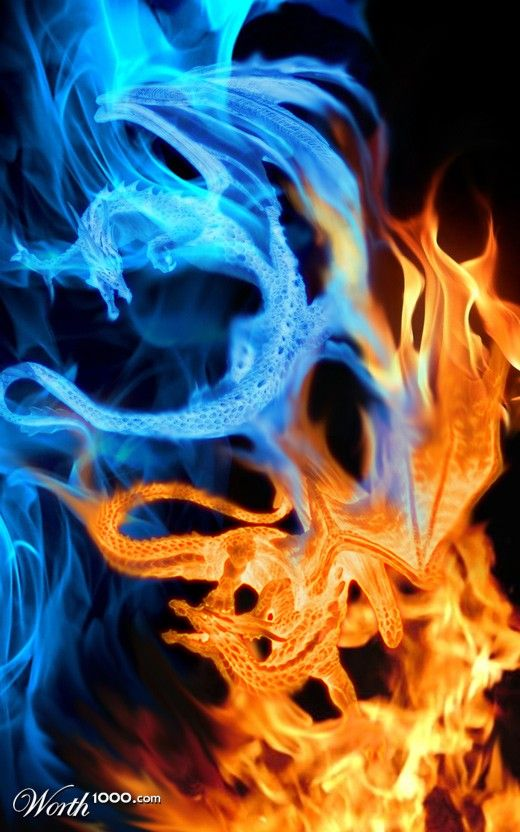 Not into dragons so much, but the dancing orange and blue flames are awesome!
