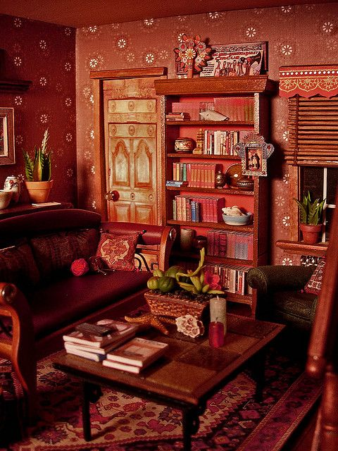 Dollhouse Living Room, Amy Gross flickr