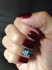 fall nails gel nail design