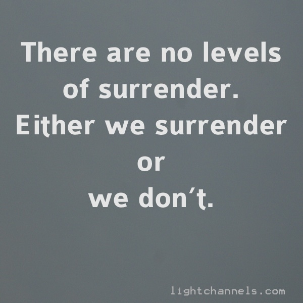 quote about surrender