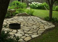 flagstone pavers and fire pit   One Day   Pinterest