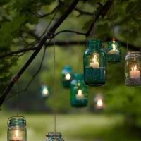 brilliant outdoor candle lighting | wedding | Pinterest