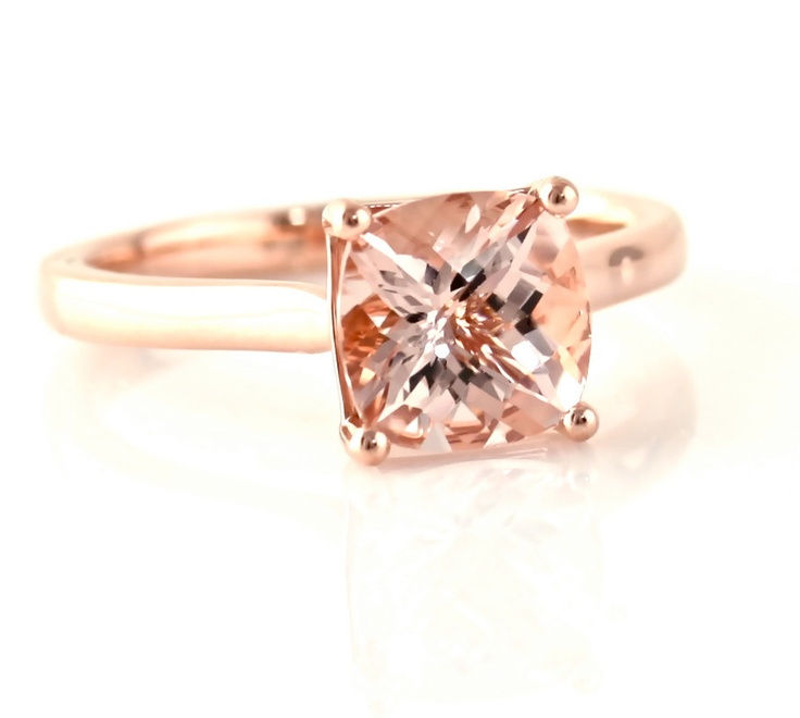Rose Gold Rings: Morganite Rose Gold Rings