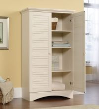 Antique White Storage Cabinet Kitchen Pantry Utility ...