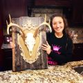 My girlie shabby chic european deer mount homemade by yours truly
