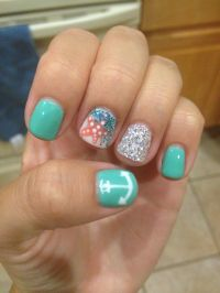 Summer beach nails!! | Nail Art | Pinterest