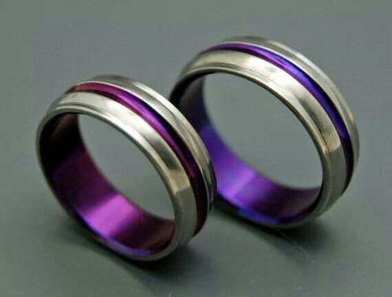 Purple wedding rings  For my  of PURPLE  Pinterest