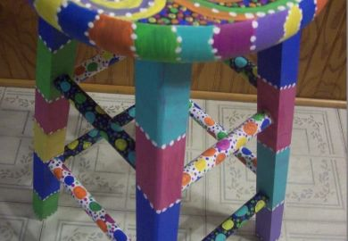 Funky Painted Wooden Chairs
