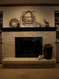 Painting a Brick Fireplace With Chalk Paint