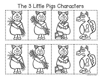 3 Little Pigs {Retelling a Story} Storyboard and Character Fun