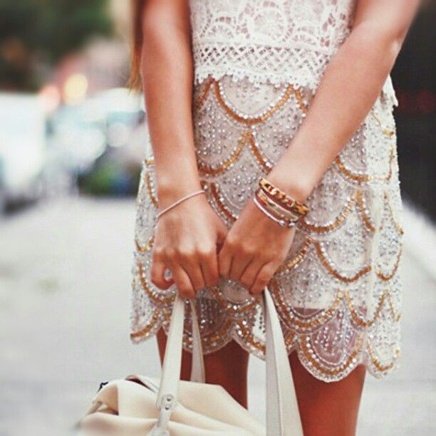 Scalloped Beaded Mini.