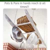Ladder pot and pan holder! | Kitchen envy | Pinterest