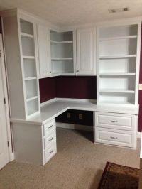 custom built in home office | For the Home | Pinterest